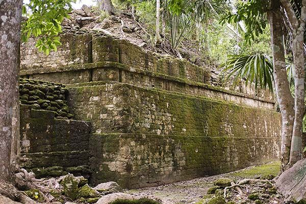 Ruins under the jungle at Kohunlich